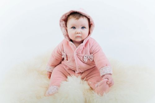 Dusty Pink Velour Pramsuit